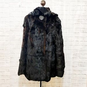 Jackets & Blazers - Vintage rare fox fur mink coat